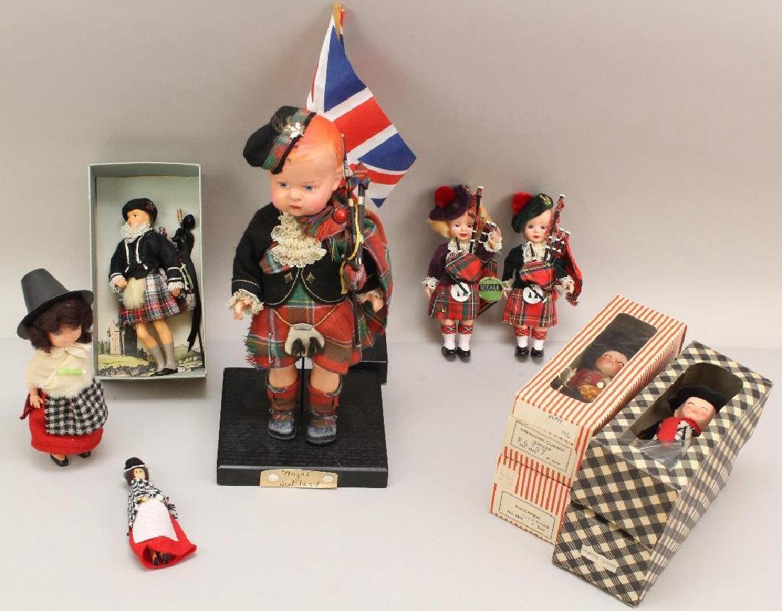 LOT OF DOLLS REPRESENTING THE BRITISH ISLES.