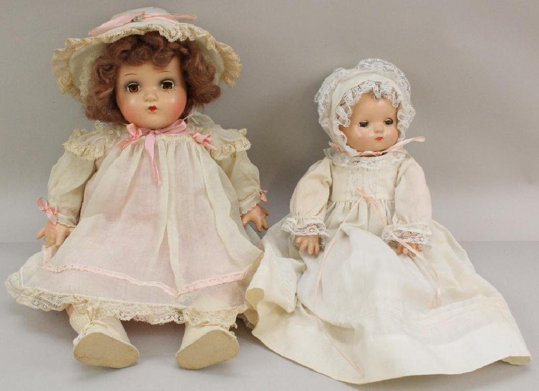 (2)  COMPOSITION BABY DOLLS: EFFANBEE PATSY BABY &