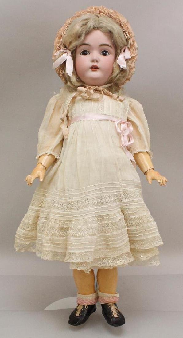 "25"" K. MADE IN GERMANY 14 171 ANTIQUE BISQUE HEAD DOLL."