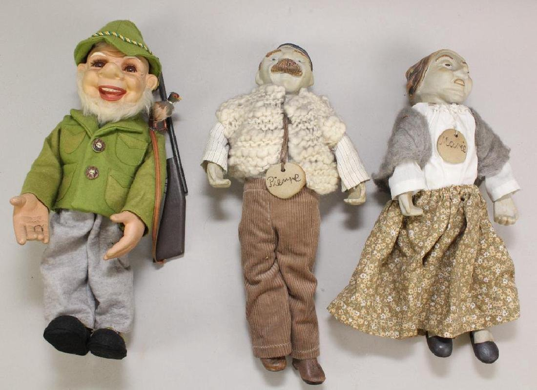 LOT OF (3) CHARACTER DOLLS.
