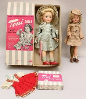"""PAIR OF 14"""" DOLLS: EFFANBEE COMPOSITION """"SUZANNE""""  &"""