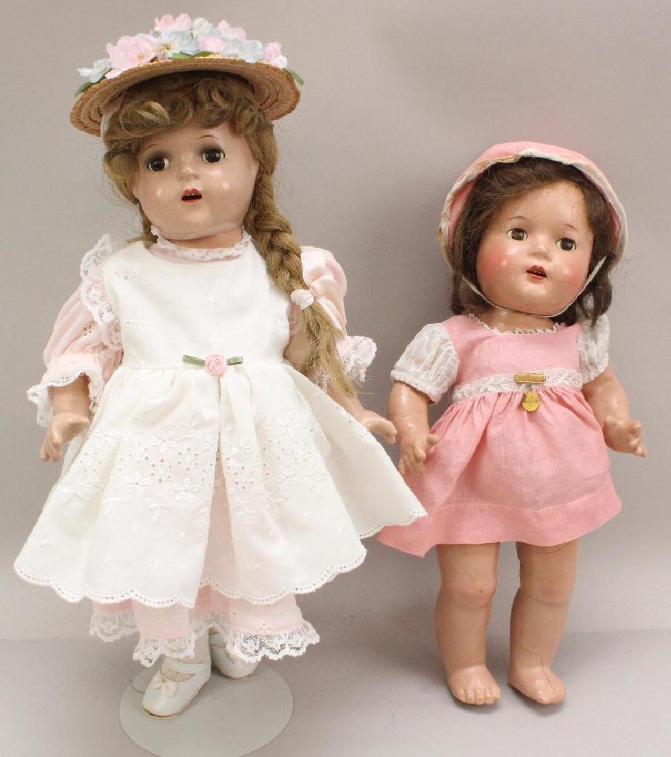 PAIR OF 1930's MADAME ALEXANDER COMPOSITION DOLLS: