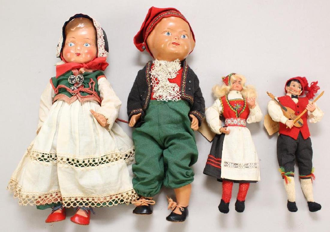 LOT OF ALL ORIGINAL NORWEGIAN DOLLS,.