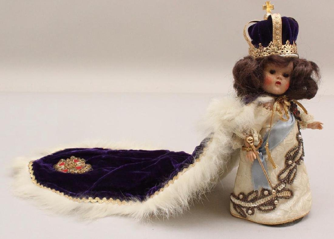 """8"""" 1953 VOGUE GINNY """"CORONATION"""" DOLL TO COMMEMORATE"""
