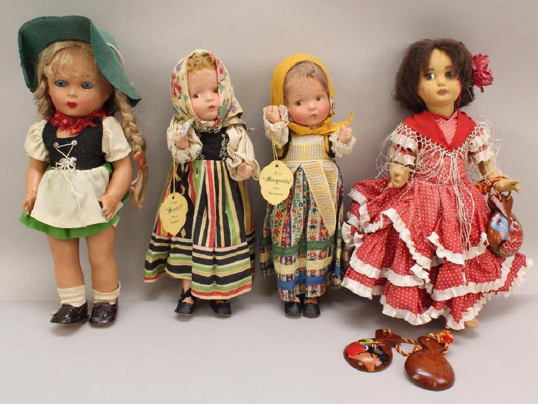 LOT OF (4) ALL ORIGINAL DOLLS REPRESENTING OTHER