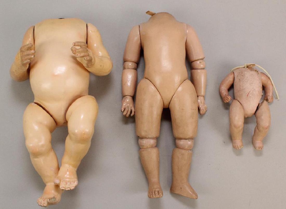 BODY PARTS: (3)  ANTIQUE PAPIER MACHE BODIES.
