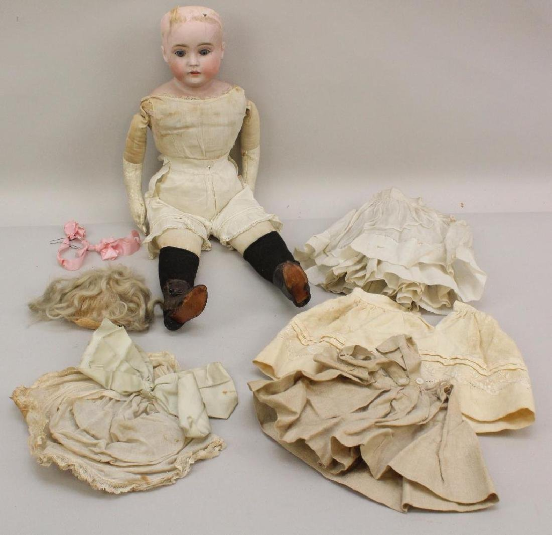 """BODY PARTS: 22 1/2"""" MADE IN GERMANY M ANTIQUE BISQUE"""