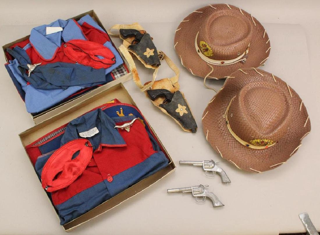 "PAIR OF 1950's PLA-MASTER COWBOY ""PLAY SUITS"" IN"