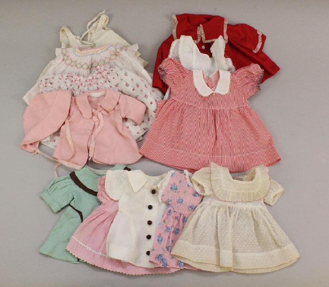 """LOT OF HANDMADE CLOTHING FOR 15""""-18"""" COMPOSITION DOLLS."""