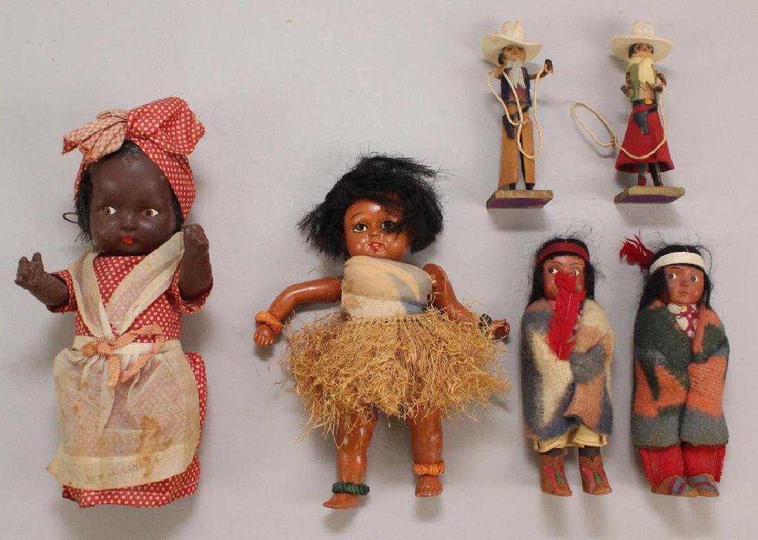 LOT OF ALL ORIGINAL ETHNIC & CHARACTER DOLLS.