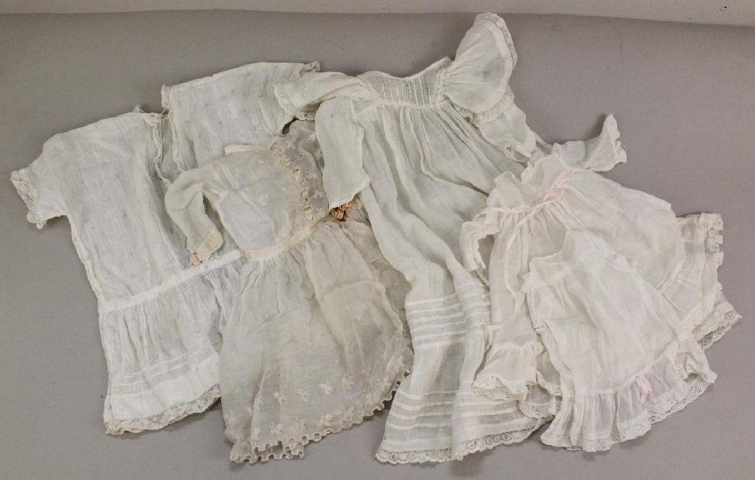 BODY PARTS/SUPPLIES: LOT OF (4) ANTIQUE WHITE COTTON