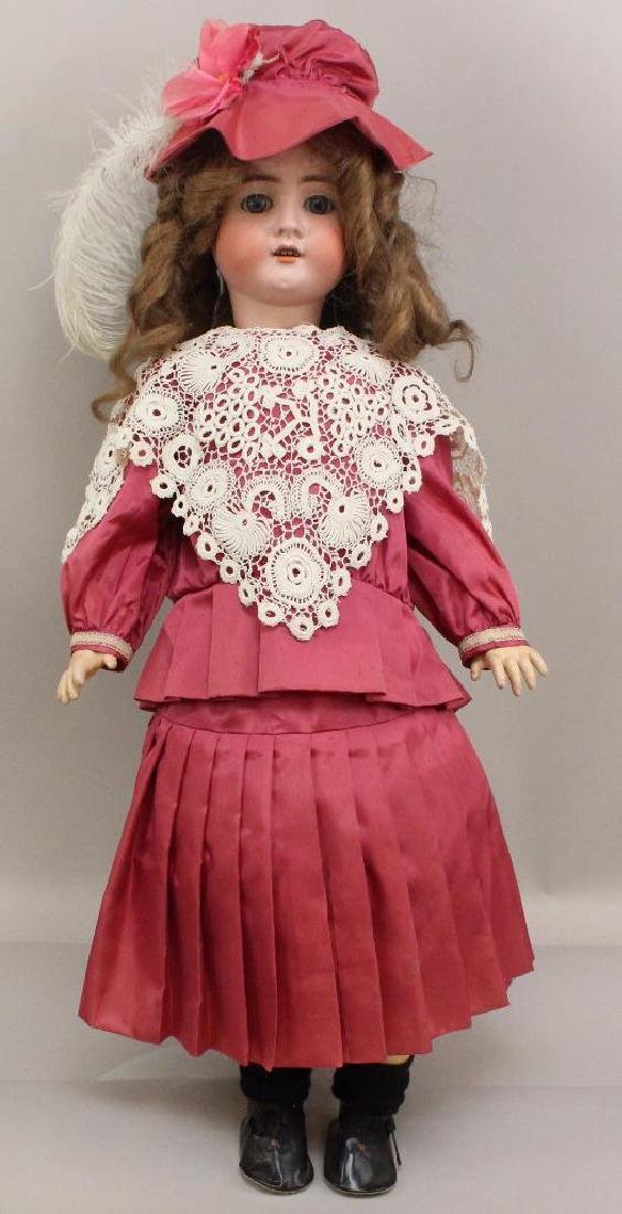 """30"""" GERMANY AW W No. 14 ANTIQUE BISQUE HEAD DOLL."""