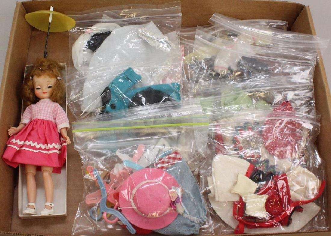 """LOT OF 1957 BETSY McCALL: 7 1/2"""" DOLL, ORIGINAL"""
