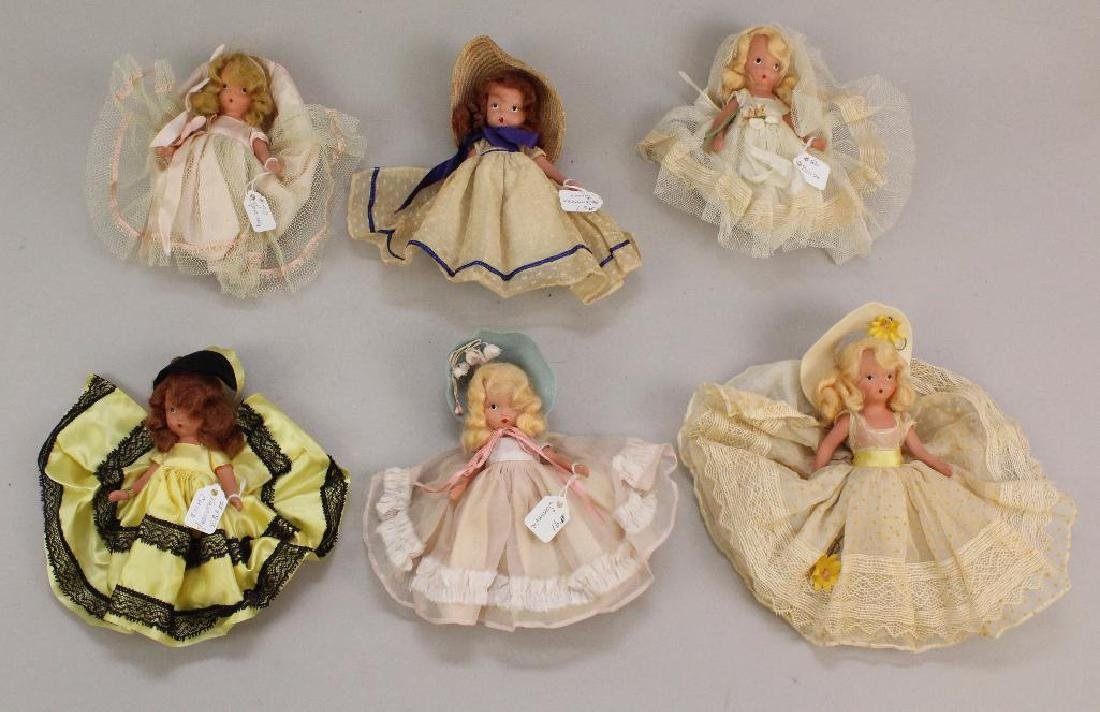 LOT OF (6) NASB STONE BISQUE DOLLS.
