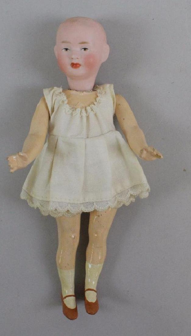 """7"""" 3/0 ABG 1323 ANTIQUE SOLID DOME BISQUE HEAD DOLL"""
