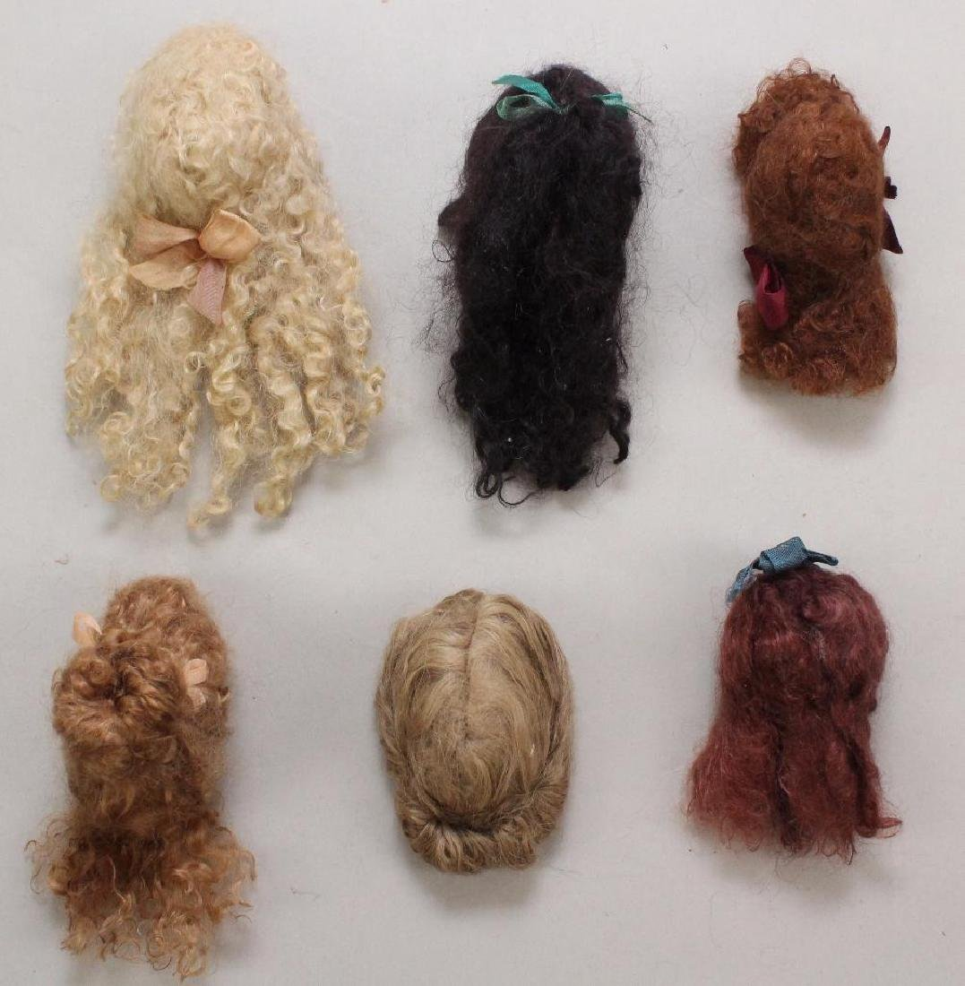 LOT OF (6) SMALL NEW MOHAIR DOLL WIGS