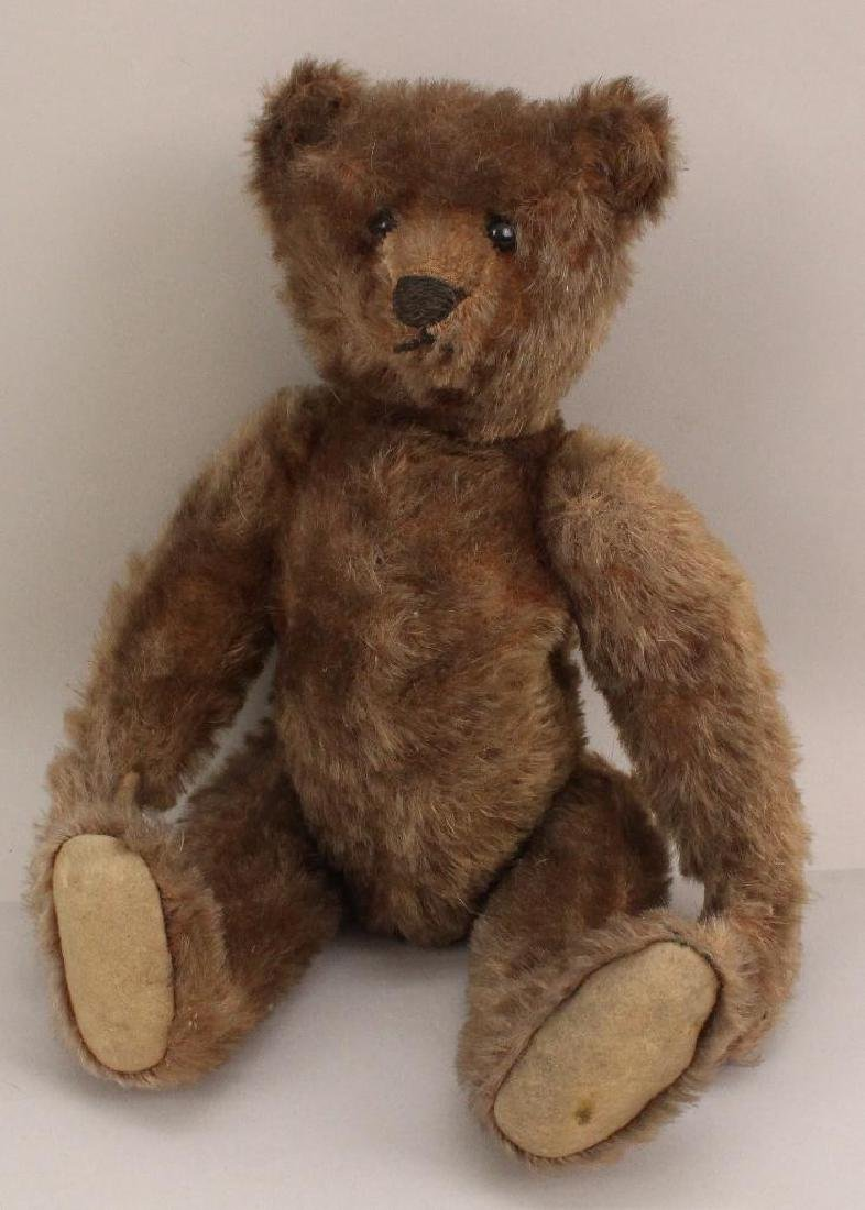 """12"""" UNMARKED ANTIQUE MOHAIR BEAR."""
