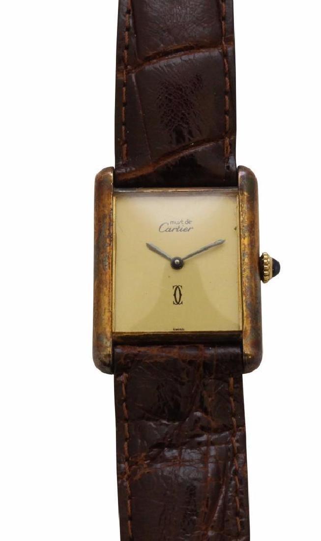 Sterling Must de Cartier Tank Watch
