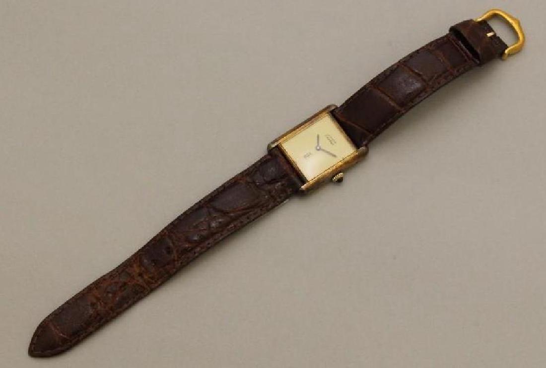 Sterling Must de Cartier Tank Watch - 2
