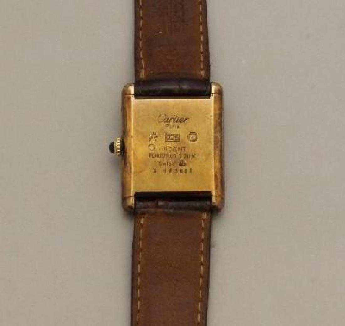 Sterling Must de Cartier Tank Watch - 3