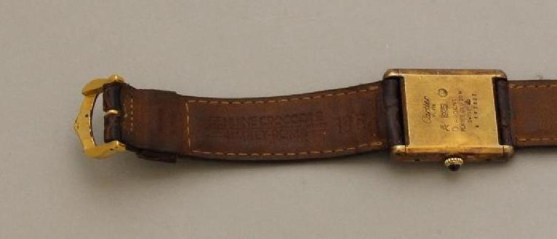 Sterling Must de Cartier Tank Watch - 4