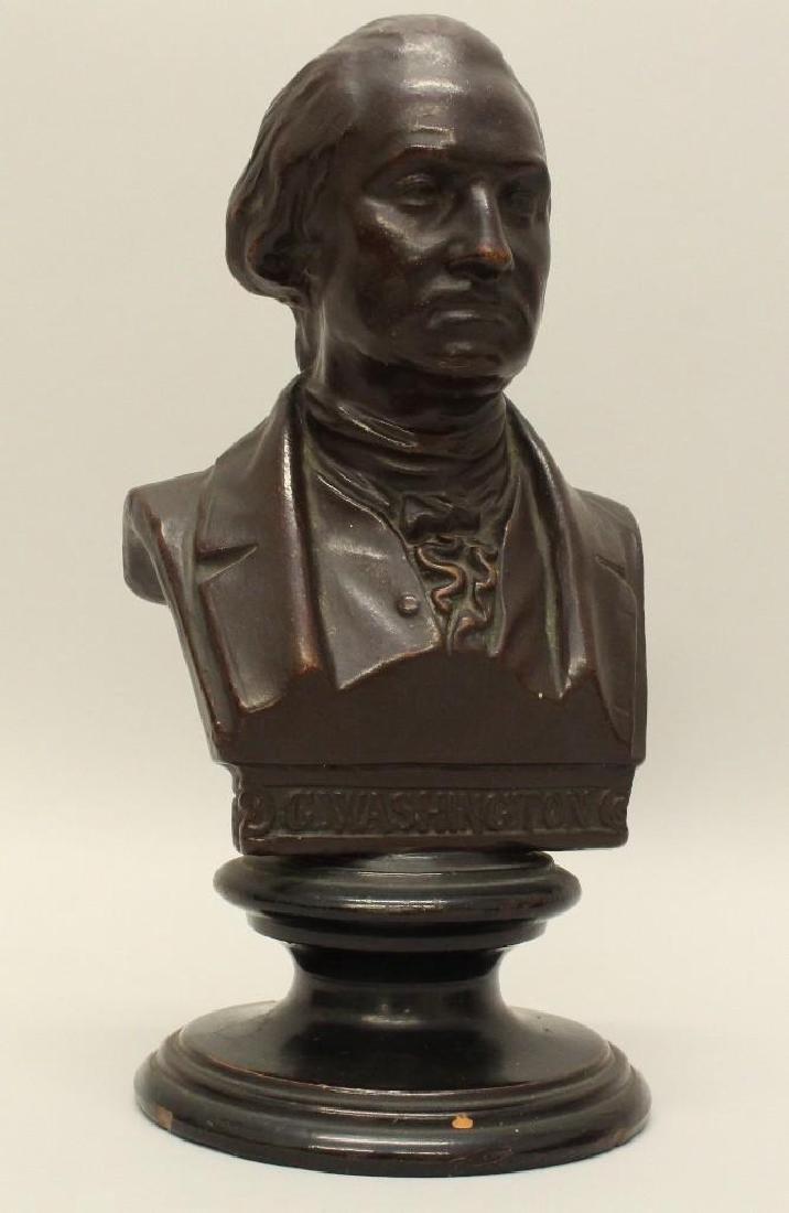 Terra Cotta Bust Of Washington by Uffrecht