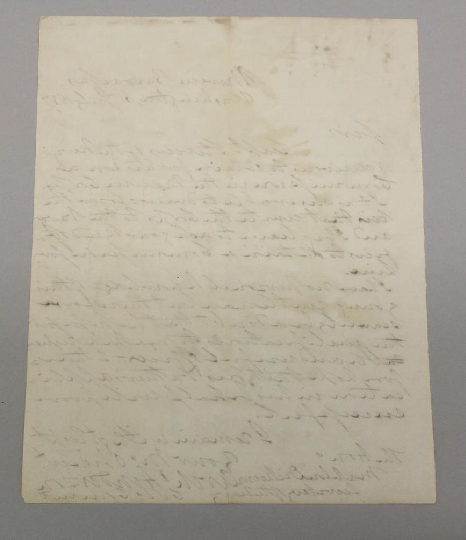 Marine Corps Letter -  Commandant Archibald Henderson - 4