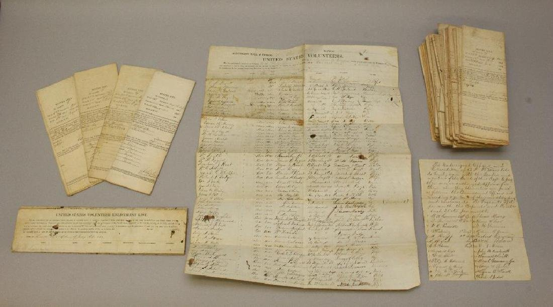 Civil War Muster and Enlistment Rolls - 33rd