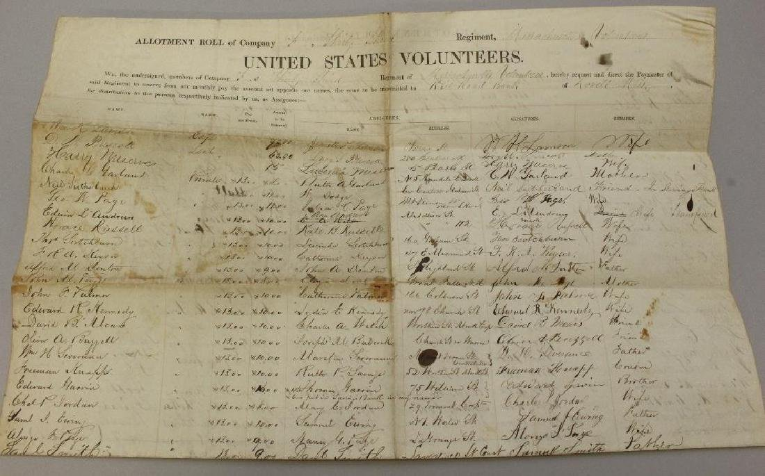 Civil War Muster and Enlistment Rolls - 33rd - 4