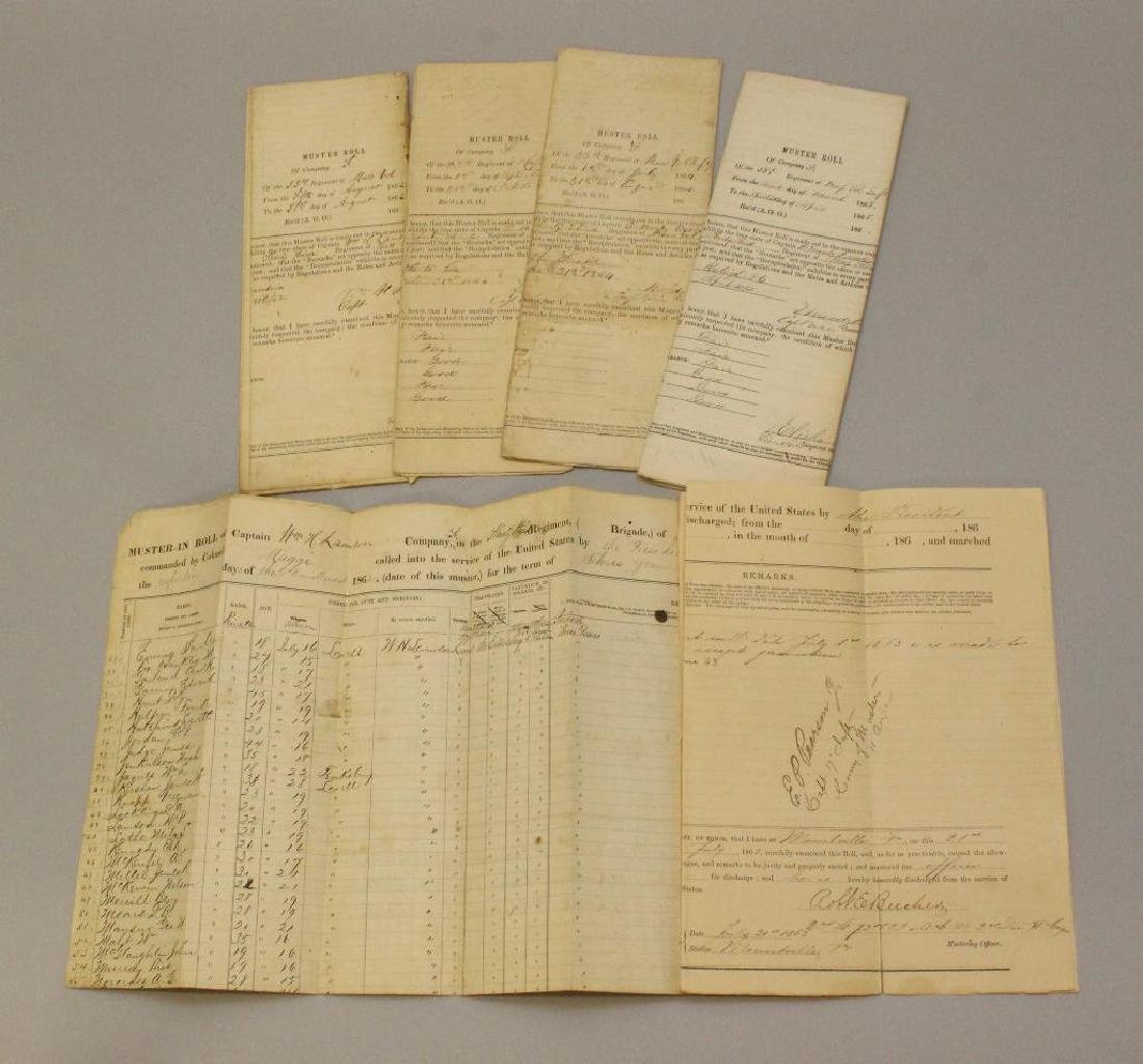 Civil War Muster and Enlistment Rolls - 33rd - 5