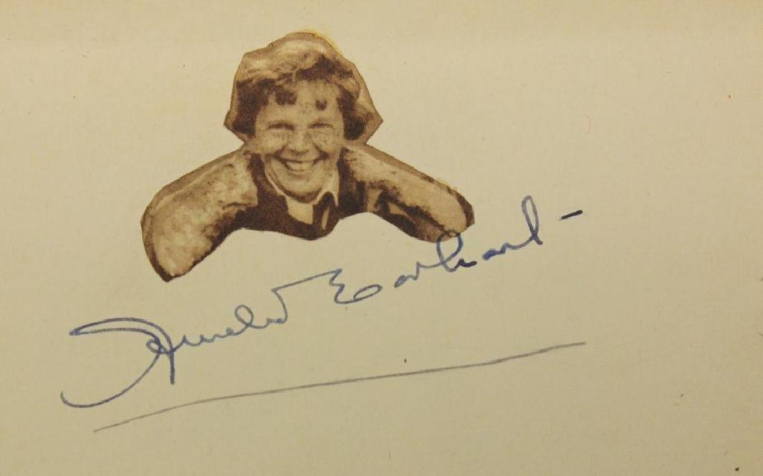 Amelia Earhart Autograph