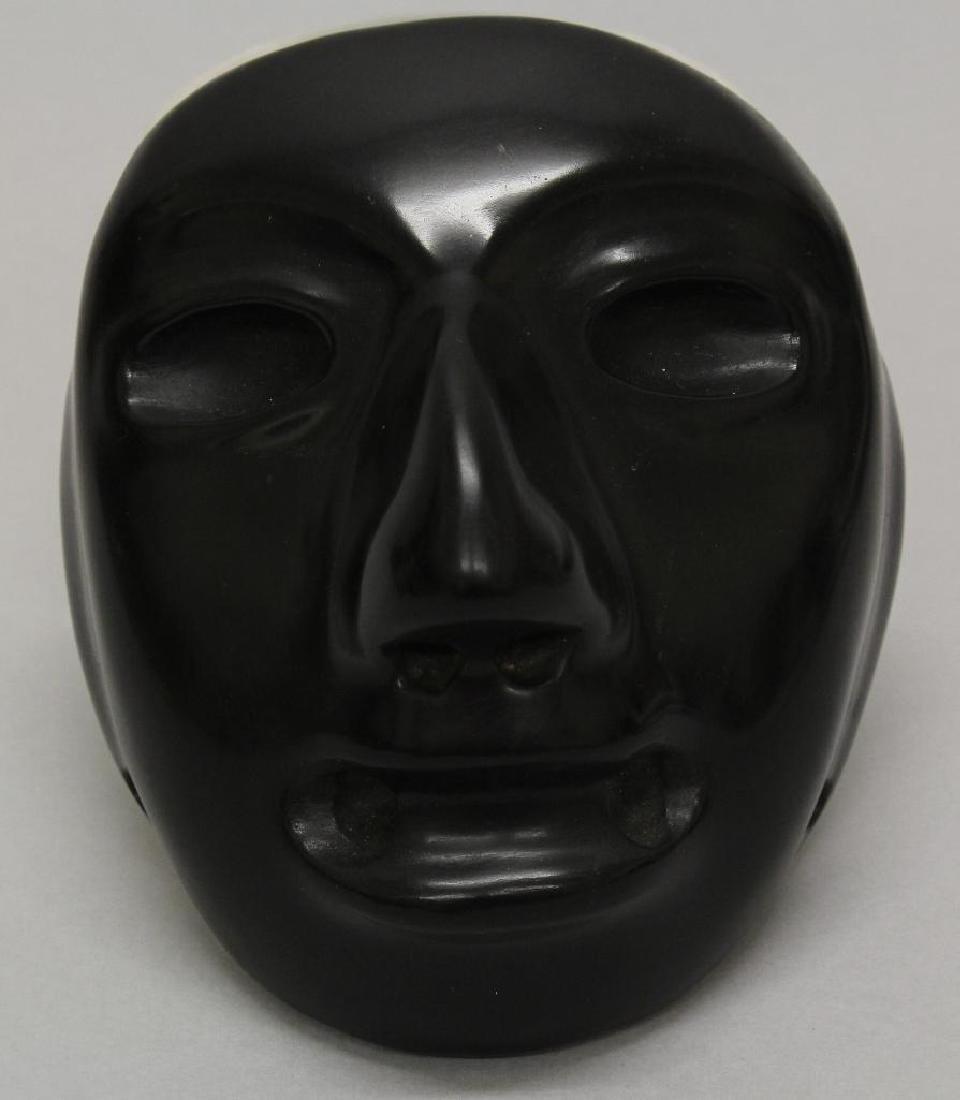 Black Stone Olmec Masquette - 2