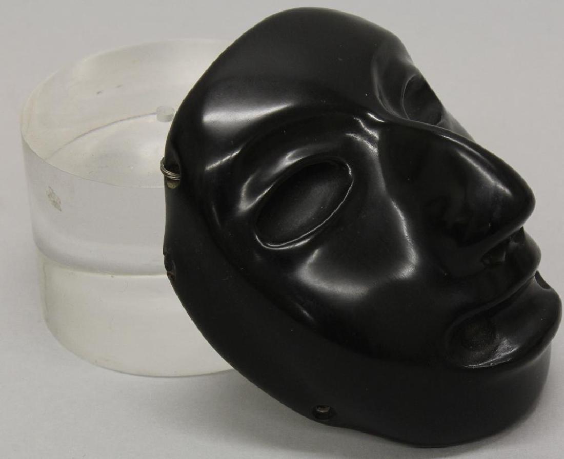 Black Stone Olmec Masquette - 3