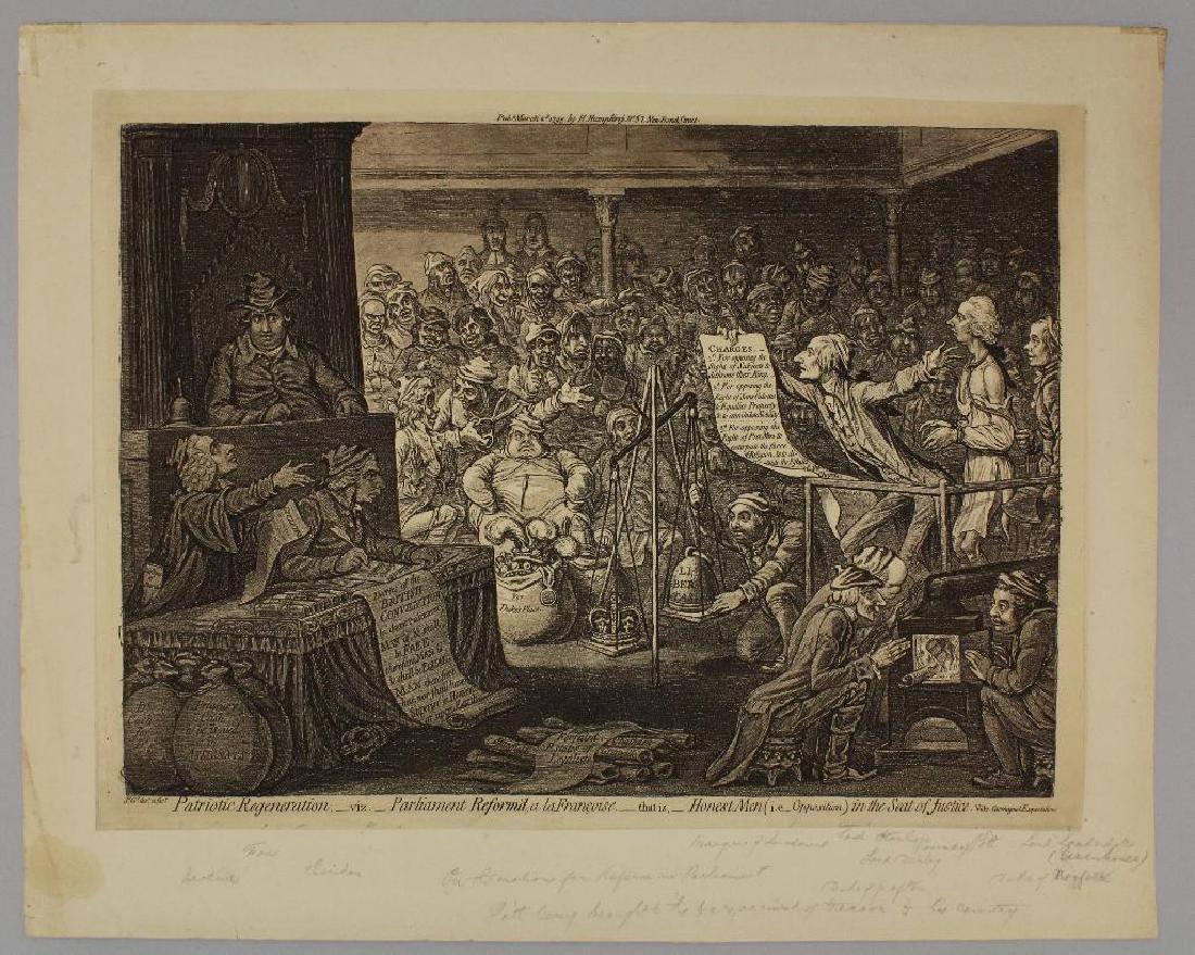 British 18th century Political Etching