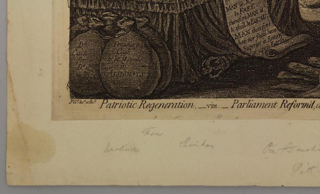 British 18th century Political Etching - 2