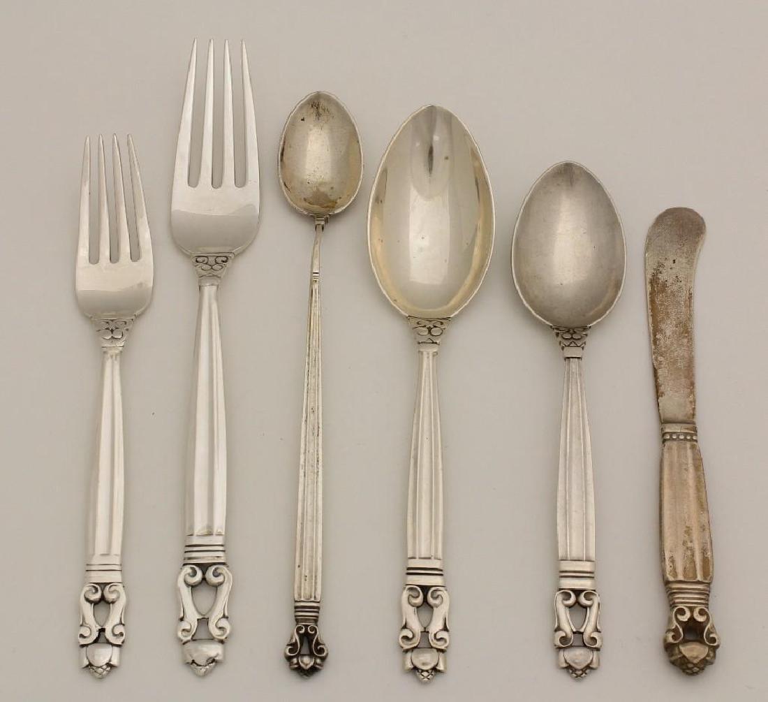 "Group of Georg Jensen ""Acorn"" Sterling Silver Flatware"