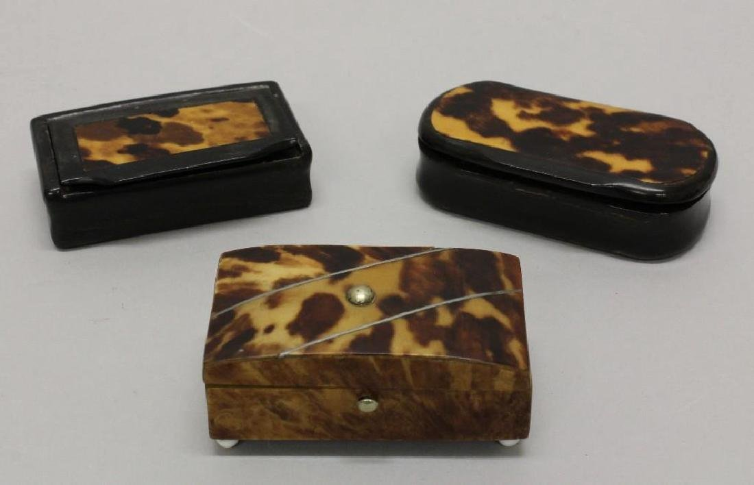 Lot of 3 Snuff Boxes