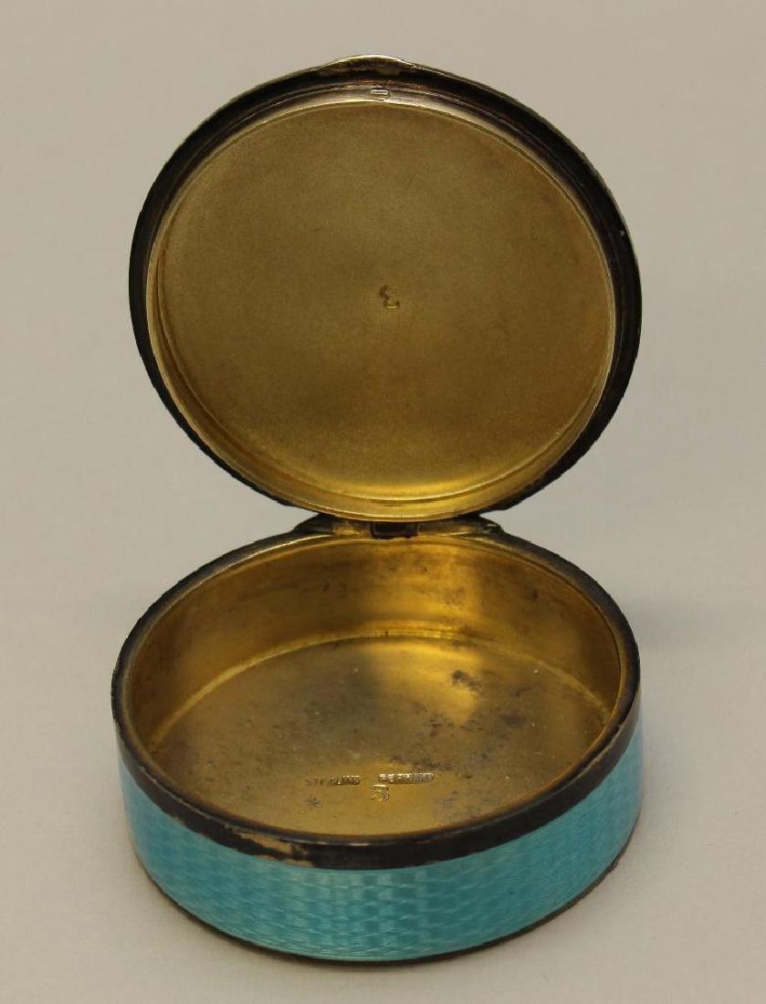 Blue Guilloche Enamel Sterling Box - 2