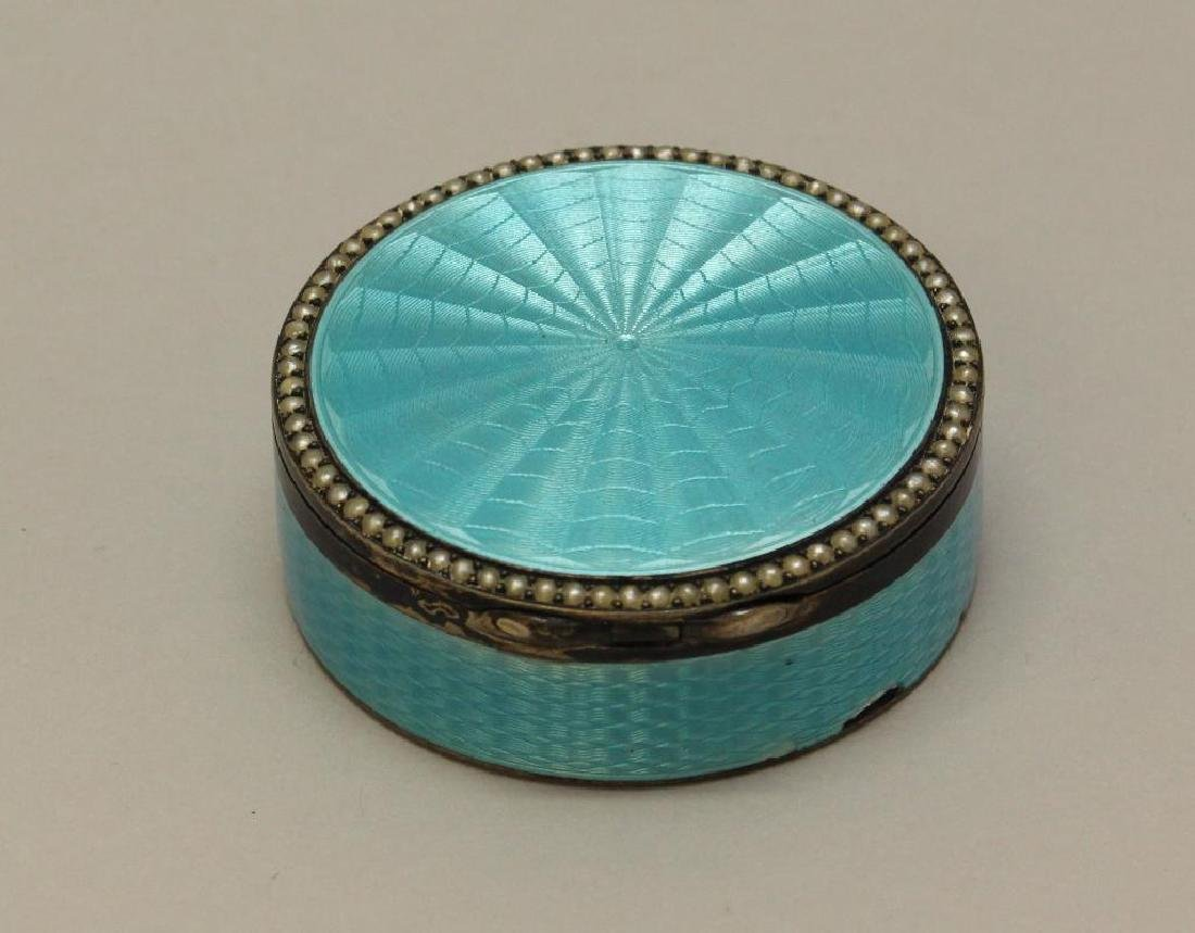 Blue Guilloche Enamel Sterling Box - 4