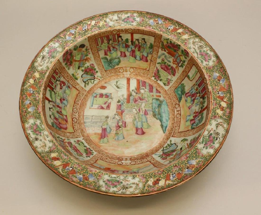 Chinese Export, Rose Medallion Large Bowl