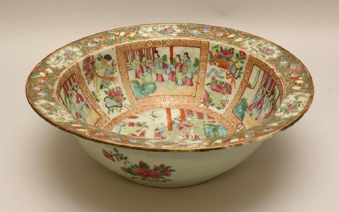Chinese Export, Rose Medallion Large Bowl - 2