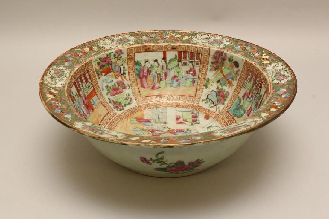Chinese Export, Rose Medallion Large Bowl - 3