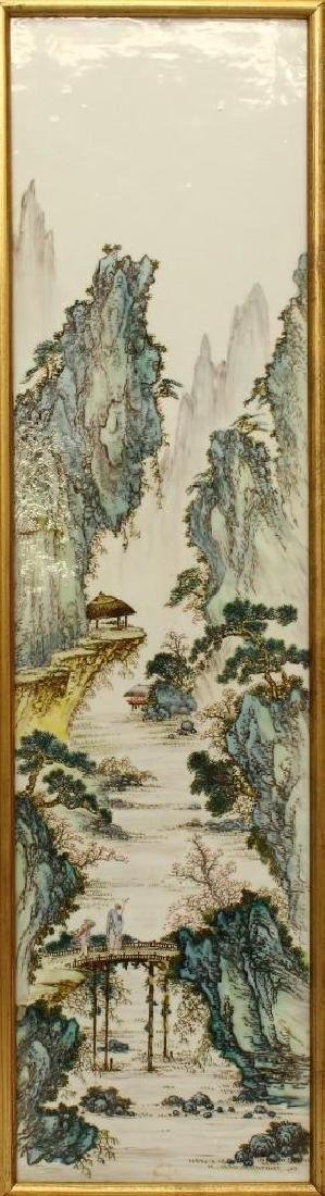 Chinese Export Porcelain Plaque