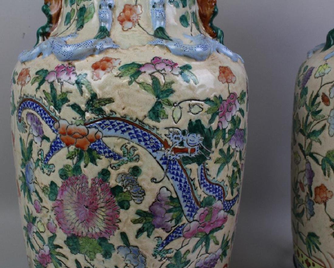 Pair of Chinese Export Lamps - 5