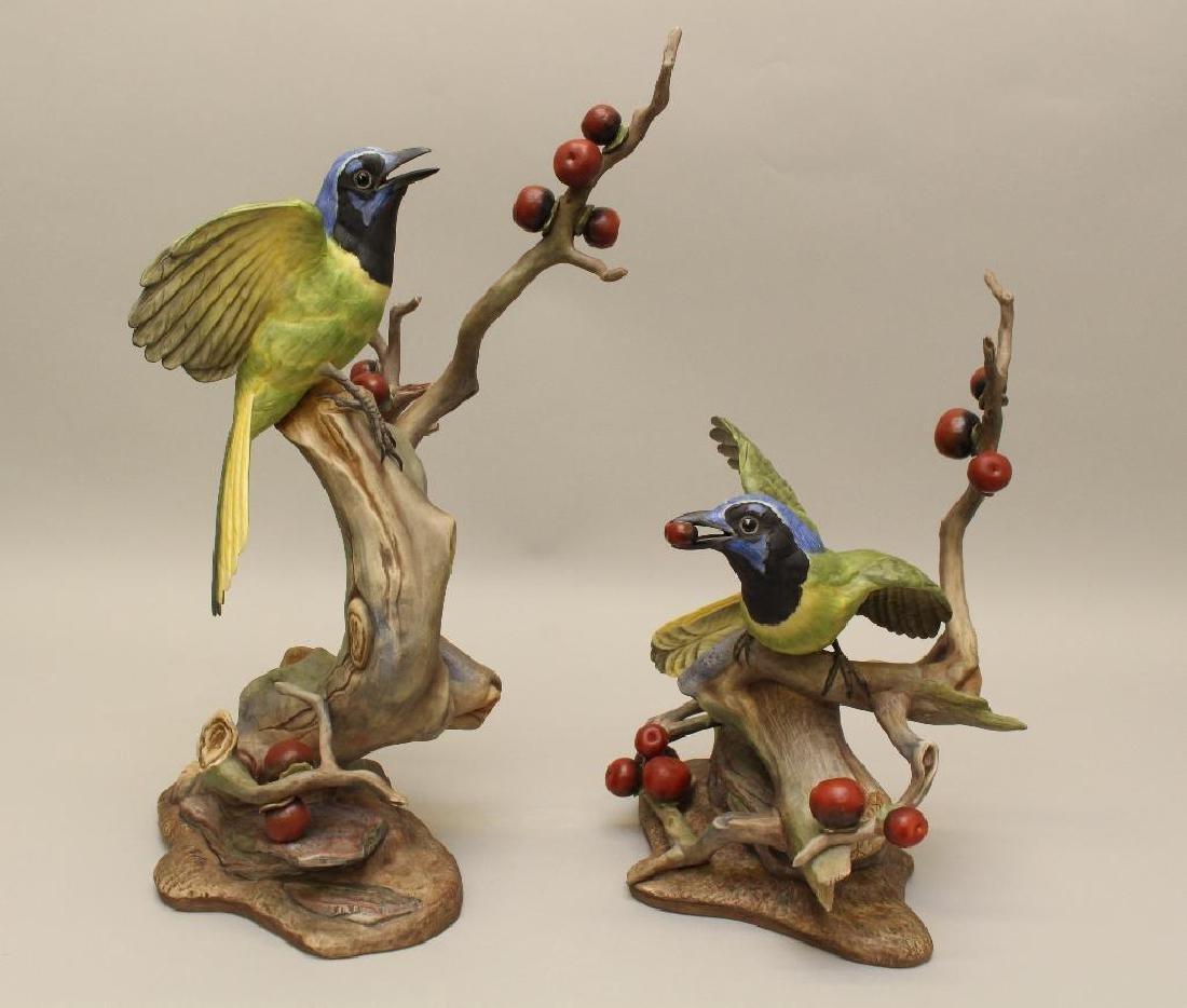 """Pair of Boehm """"Green Jayes"""" Figures"""