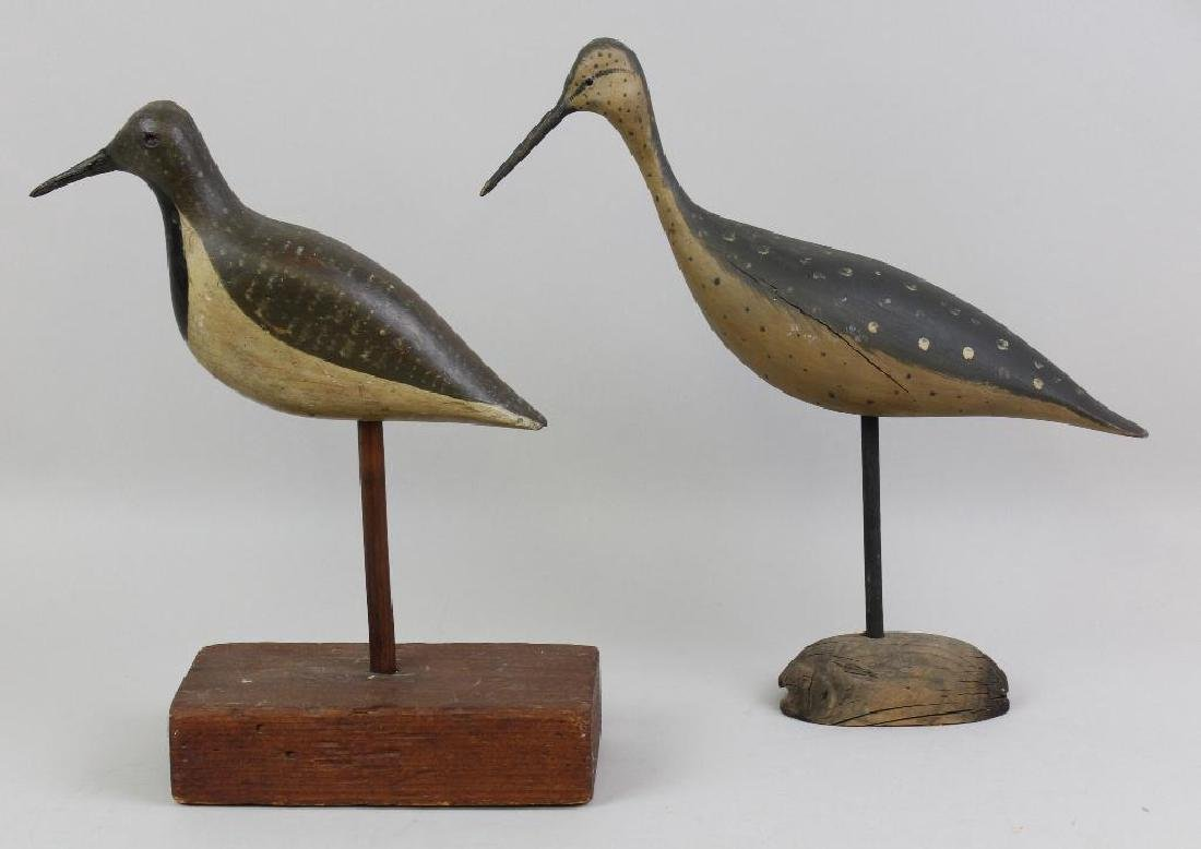 Set of Two Shore Bird Decoys, Including One by Bob - 2