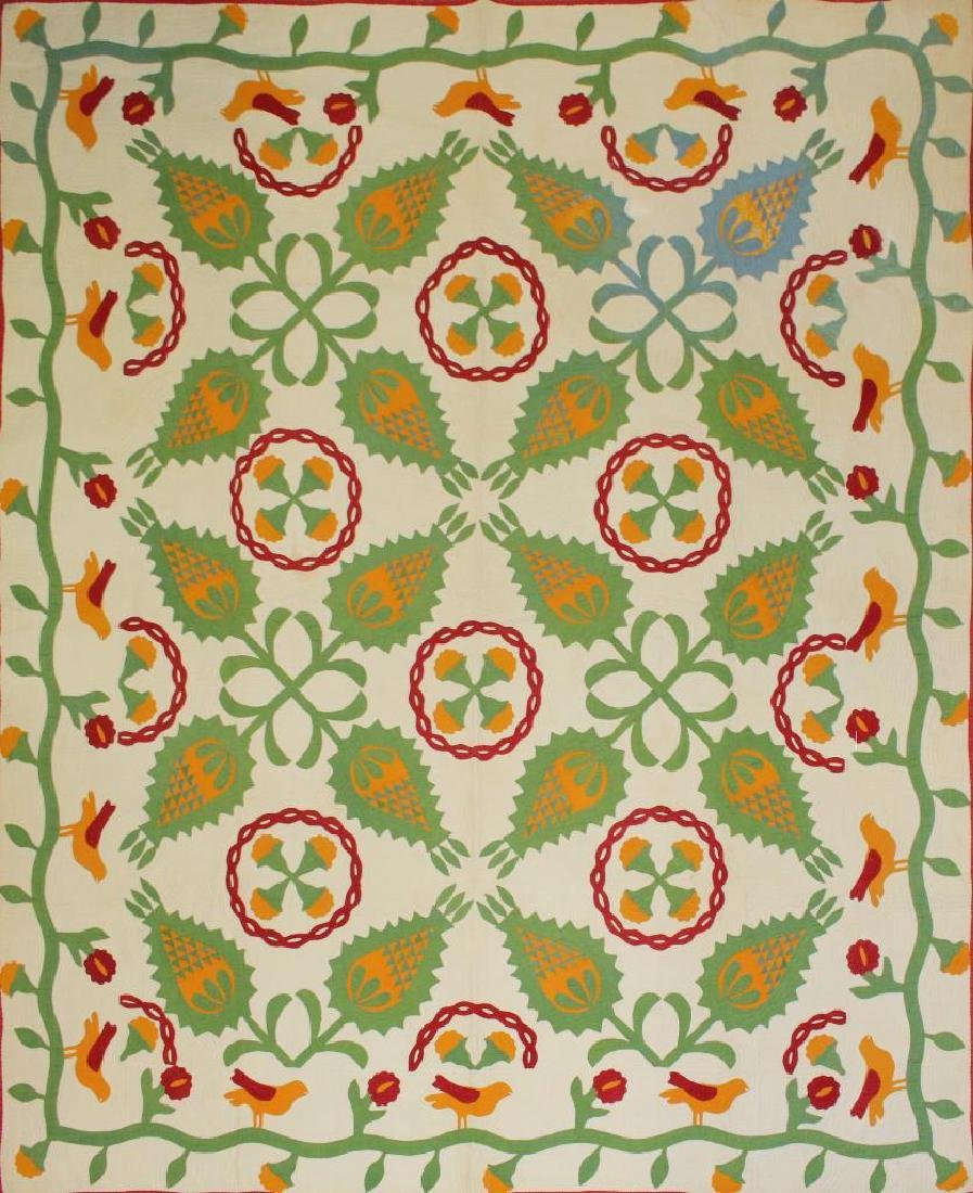 Applique Floral Quilt