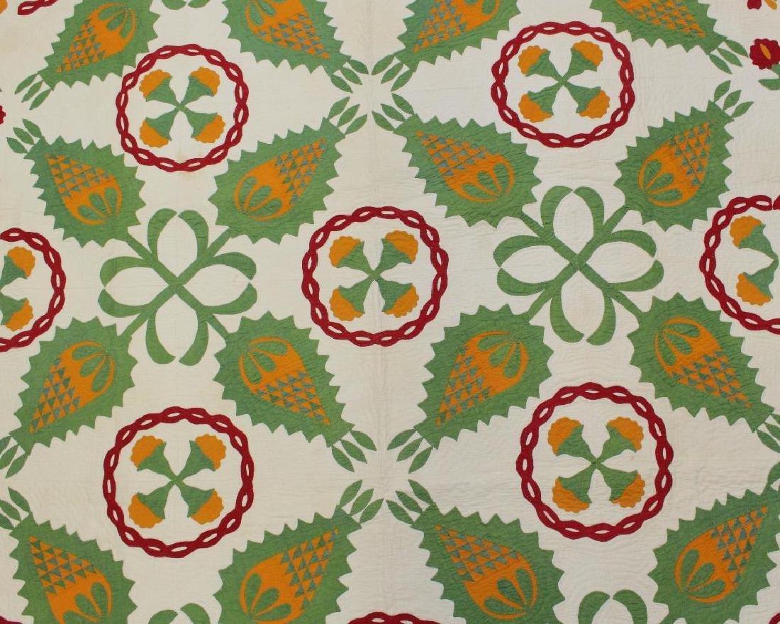 Applique Floral Quilt - 2