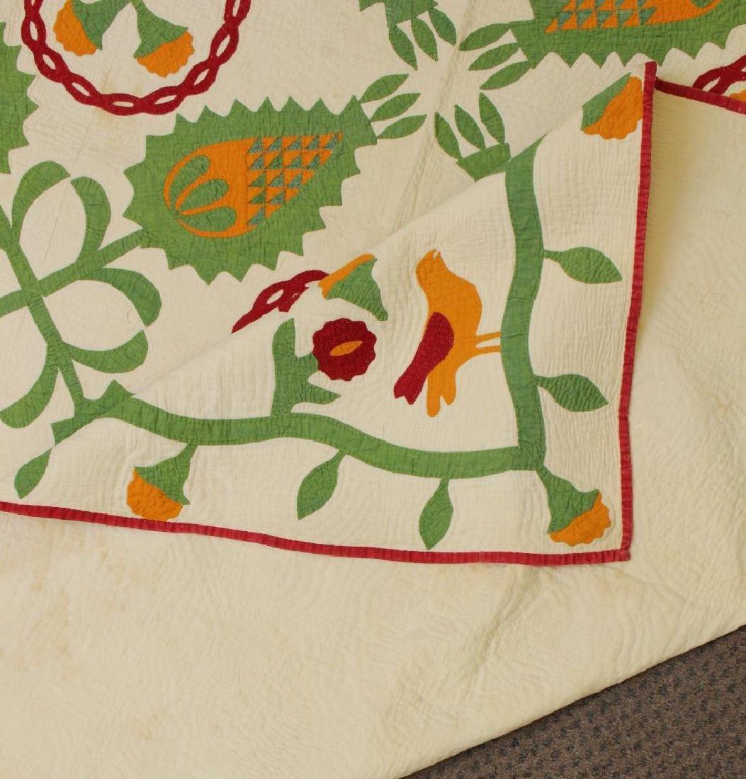 Applique Floral Quilt - 3