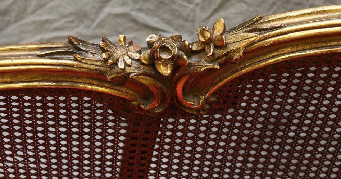 Louis XV Giltwood Diminutive Chaise Lounge - 3